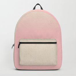 Stylish chic ivory gold pink ombre glitter Backpack