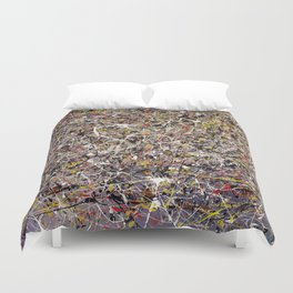 Intergalactic - abstract painting by Rasko Duvet Cover