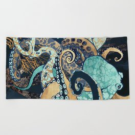 Metallic Octopus II Beach Towel