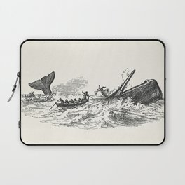 Illustration of the sperm whale while attacking fishing boat from The Natural History of the Sperm W Laptop Sleeve
