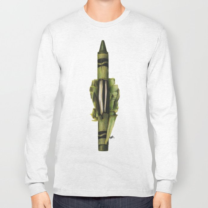 To The Core: Green Long Sleeve T-shirt