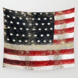 USA Flag ~ American Flag ~ Distressed Pattern ~ Ginkelmier Inspired Wall Tapestry