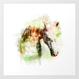 Horse Watercolor, Horse Print, Watercolor Print, Watercolor Animal, Horse Painting, Horse Gift Print Art Print