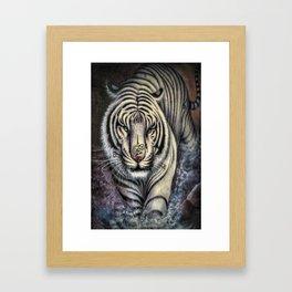 Buddhist Tiger Bai Hu with Yantra - Thailand Framed Art Print