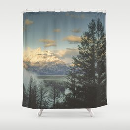 grand teton high country sunrise Shower Curtain