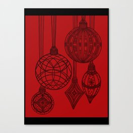 Ornaments in Red Collection (design 1) Canvas Print