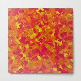 Red, Orange and Yellow Splatters 7368 Metal Print
