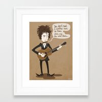 dylan Framed Art Prints featuring Dylan by AnaMF