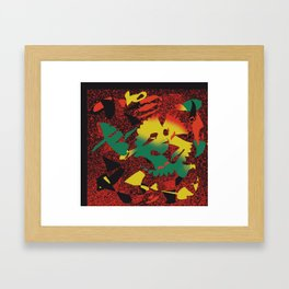 Pieces of Reggae #Abstract #PopArt Framed Art Print