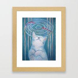 Cat's Dream Framed Art Print