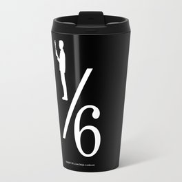 One Sixth Ism (White Logo) Travel Mug