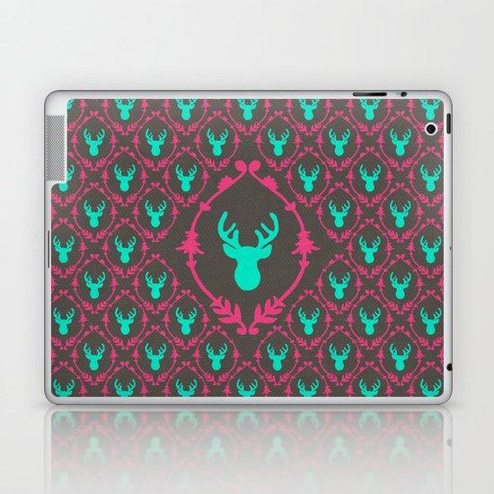 Oh Deer (teal dark) Laptop & iPad Skin