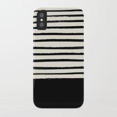 Black x Stripes Slim Case iPhone X