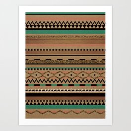 Tribal Flirt Art Print