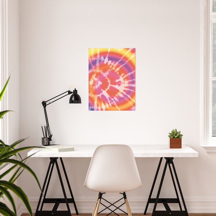 Tie-dye pattern Poster