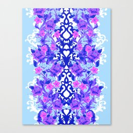 Baroque Blue Canvas Print