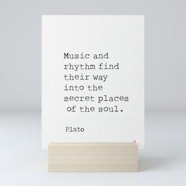 Plato about music Mini Art Print