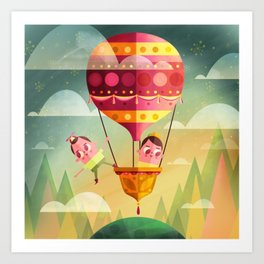 Dreamers - Balloon Art Print