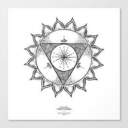 Throat Chakra - Black on white Canvas Print