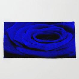 Expansion Blue rose flower Beach Towel