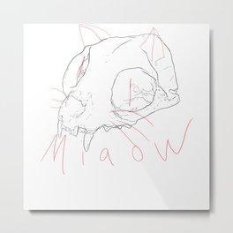Miaow Metal Print