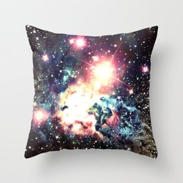Fox Fur Nebula : Deep Pastels Galaxy Throw Pillow