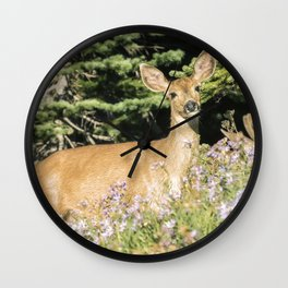 Breakfast and Flowers Wall Clock