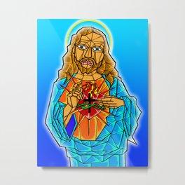 The Crystal Christ Metal Print