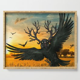 Malphas Halphas and the Murder of Crows Serving Tray