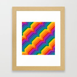 Rainbow Wave Framed Art Print