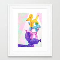 baloon Framed Art Prints featuring Baloon Pups by Fricking