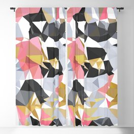 Cool geometric abstract pattern Blackout Curtain