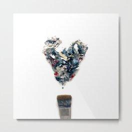 Heart in paint Metal Print