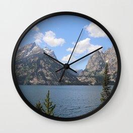Grand Teton Mountains and Jenny Lake, Grand Teton National Park Wall Clock