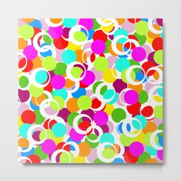 Color Circles School Print Abstract Fun Metal Print