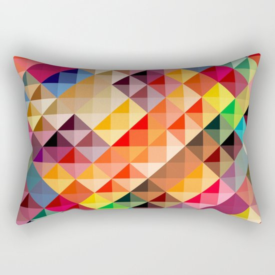 Abstract colorful Rectangular Pillow