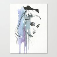 sky ferreira Canvas Prints featuring Sky Ferreira by Cora-Tiana