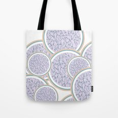 Circle: blue and beige Tote Bag
