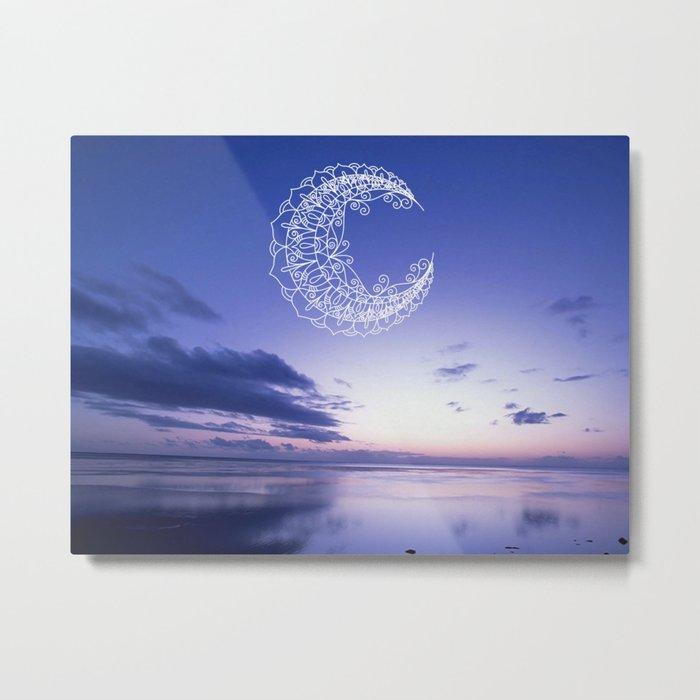Bohemian Moon Metal Print