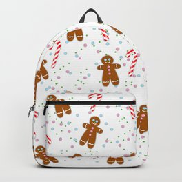 Gingerbread man wishes you Merry Xmas! - White Backpack