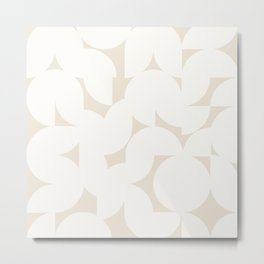 Abstract Shapes - Neutral White I Metal Print