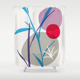 zen garden - blue flower Shower Curtain