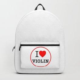 I Love Violin, circle Backpack