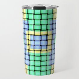 Beautiful Pastel Weave Texture Travel Mug