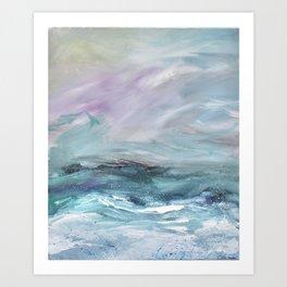 White waves Art Print