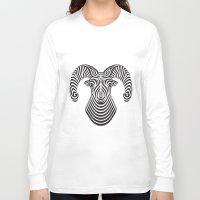 ram Long Sleeve T-shirts featuring Ram by Siggi Odds
