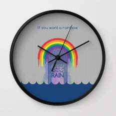 Rainbow Needs Rain Wall Clock