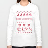 murray Long Sleeve T-shirts featuring Murray Christmas Sweater by Derek Eads