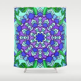 Kaleidoscope of Cool Colors Shower Curtain