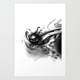 Abstract Ink 002 Art Print